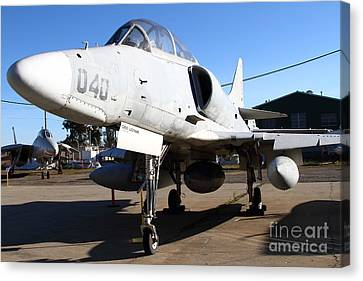 Mcdonnell Douglas Ta-4j Skyhawk Aircraft Fighter Plane . 7d11303 Canvas Print by Wingsdomain Art and Photography