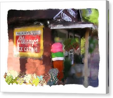 Mckays Corner Store Canvas Print