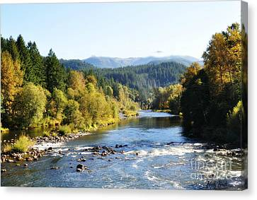 Canvas Print featuring the photograph Mckenzie River  by Mindy Bench