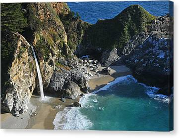 Canvas Print featuring the photograph Mcway Falls by Lynn Bauer