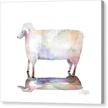 Me And My Colorful Shadow Canvas Print by Arline Wagner
