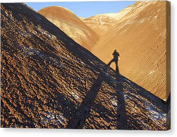 Clay Canvas Print - Me And My Shadow - Utah by Mike McGlothlen