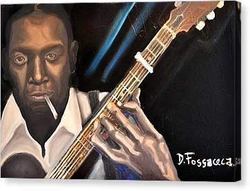 Me And The Devil Blues-robert Johnson Canvas Print