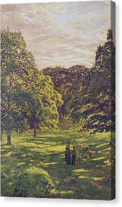 Meadow Scene  Canvas Print by John William Buxton Knight
