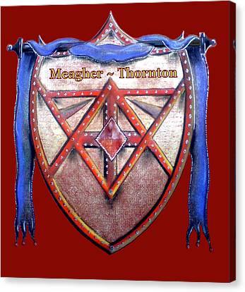 Meagher-thornton Family Crest Canvas Print