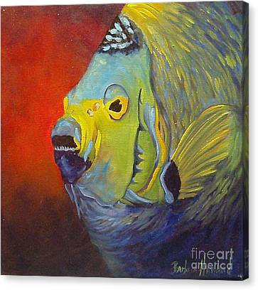 Mean Green Fish Canvas Print