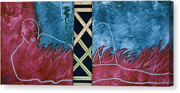 Canvas Print featuring the mixed media Measure Of A Man by Lisa Brandel