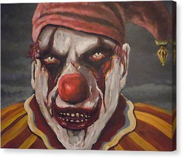 Canvas Print featuring the painting Meat Clown by James Guentner