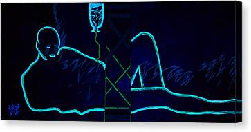 Meausre Of A Man Black Light View Canvas Print