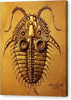 Mecha-trilobite 3 Canvas Print by Baron Dixon
