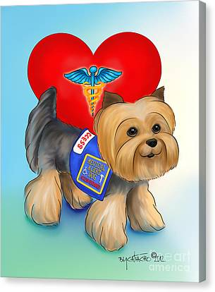 Medical Alert Yorkie Canvas Print