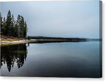 Canvas Print featuring the photograph Medicine Lake  by Randy Wood
