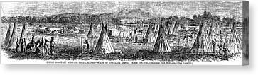 Medicine Lodge Creek, 1867 Canvas Print by Granger