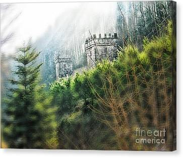 Medieval Towers In France Canvas Print by Anita Antonia Nowack