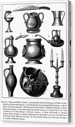 Medieval Utensils Canvas Print by Granger