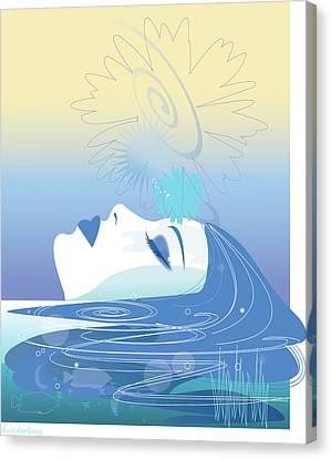 Fish Pond Canvas Print - Meditation by Lisa Henderling