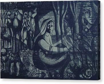 Meditation Canvas Print by Ousama Lazkani