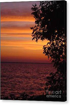 Meditation Sunset Canvas Print