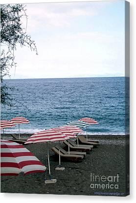 Mediterranean Beach Time  Canvas Print by Anthony Novembre