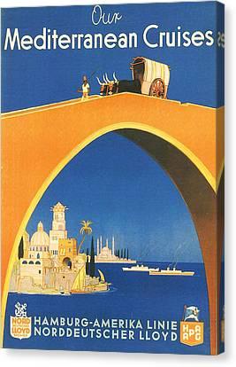 Mediterranean Cruising Canvas Print by Georgia Fowler