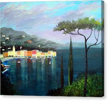 Mediterranean  Mist Canvas Print by Larry Cirigliano