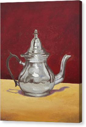 Canvas Print featuring the painting Mediterranean Silver Kettle by Sam Shacked