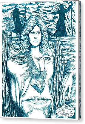 Medusa Lament Canvas Print by Jamie Jonas
