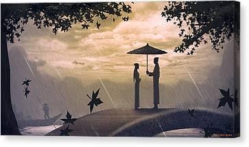Meet Canvas Print by Hiroshi Shih