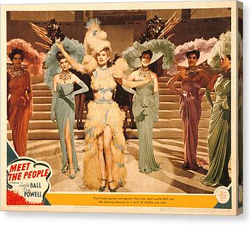 Meet The People, Lucille Ball, 1944 Canvas Print by Everett
