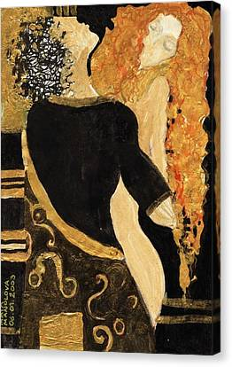 Meeting Gustav Klimt  Canvas Print by Maya Manolova