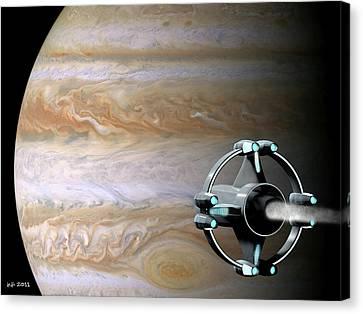 Meeting Jupiter Canvas Print