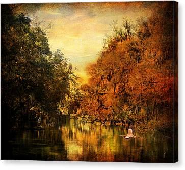 Meeting Of The Seasons Canvas Print by Jai Johnson