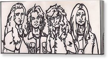 Megadeth Canvas Print by Jeremiah Colley