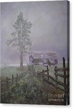 Canvas Print featuring the painting Melancholia by Annemeet Hasidi- van der Leij