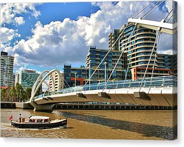 Melbourne Australia City Boat Ride Canvas Print
