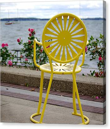 Union Terrace Canvas Print - Mellow Yellow by Linda Mishler