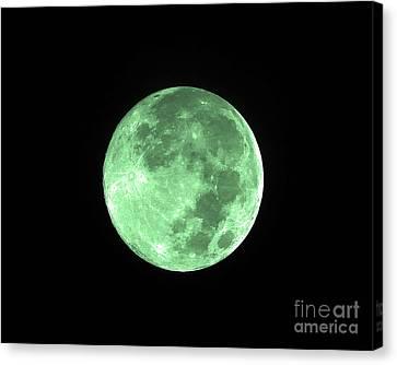 Melon Moon Canvas Print
