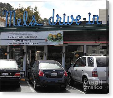 Mel's Drive-in Diner In San Francisco - 5d18014 Canvas Print by Wingsdomain Art and Photography