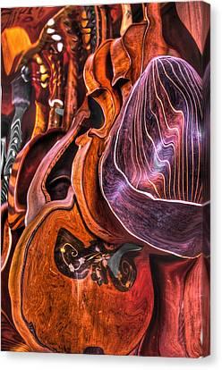 Melt-olins Canvas Print by Frank SantAgata