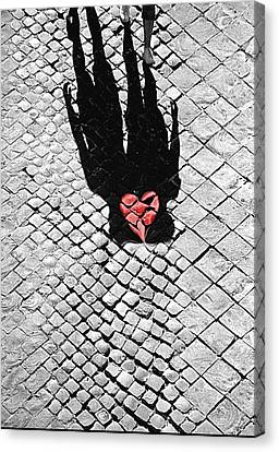 Melted In Love Canvas Print by Valentino Visentini