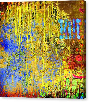 Canvas Print featuring the painting Meltig Yellow by Lolita Bronzini