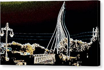 Melting Bridge Canvas Print by David Alvarez