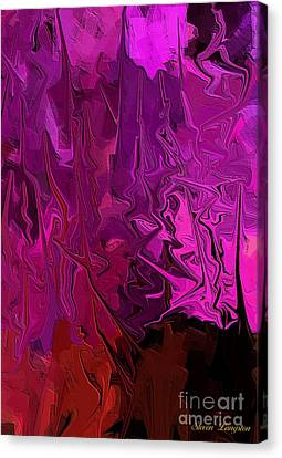 Canvas Print featuring the painting Melting Colors 2 by Steven Lebron Langston