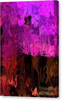 Canvas Print featuring the painting Melting Colors by Steven Lebron Langston