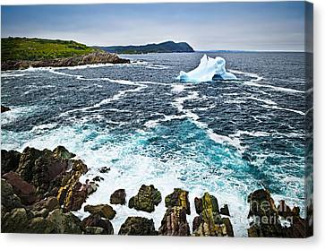 Melting Iceberg In Newfoundland Canvas Print by Elena Elisseeva