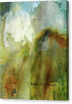 Melting Mountain Canvas Print by Anna Ruzsan
