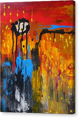 Canvas Print featuring the painting Melting Point by Everette McMahan jr