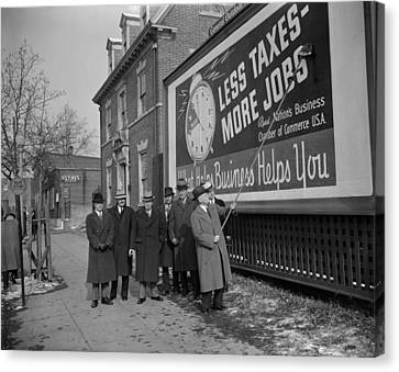 Members Of The National Chamber Canvas Print by Everett
