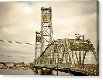 Memorial Bridge Portsmouth Nh Canvas Print by Debbra Obertanec