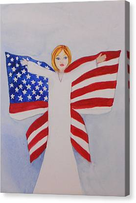 Memorial Day For Those Who Sacrificed Canvas Print by DJ Bates